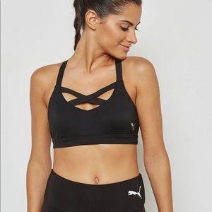Puma Don't Cross Me strappy sports bra black M